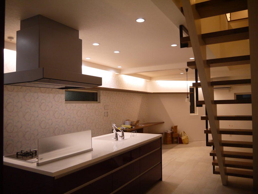 東京都調布市 N様邸 キッチンリビング空間